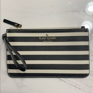 Kate Spade wristlet clutch striped